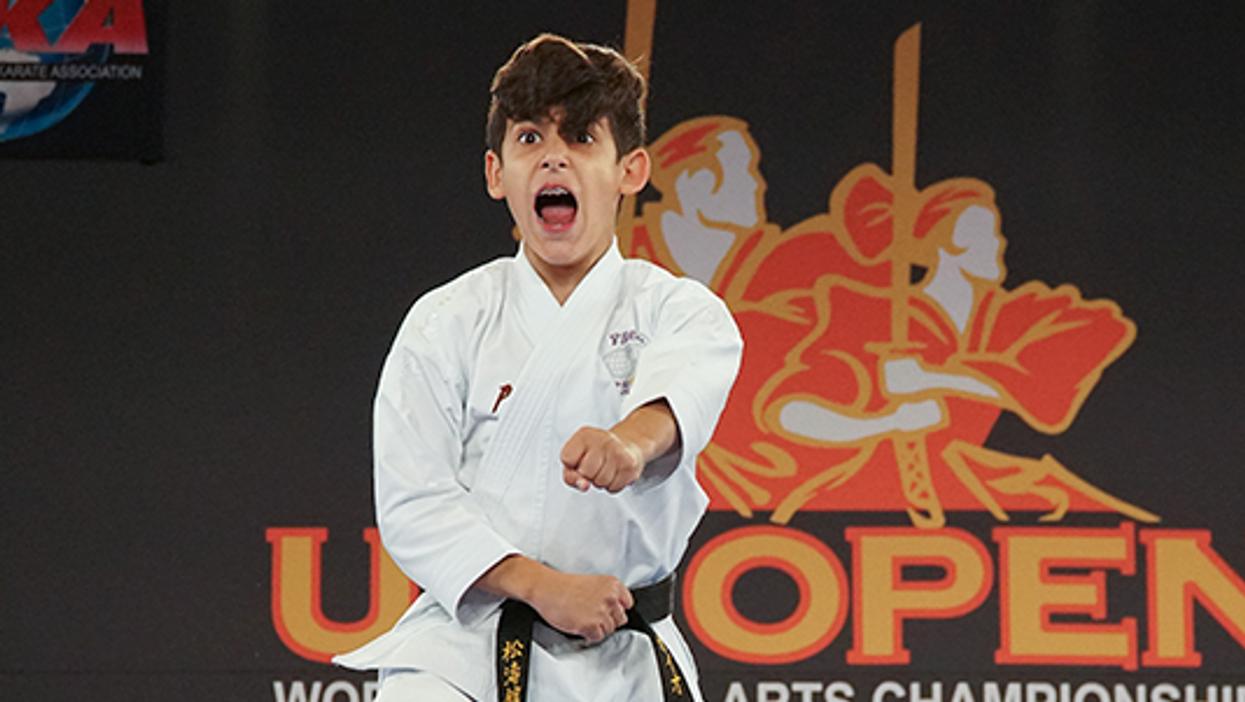 Caio DaSilva at the US Open performing a Shotokan Kata
