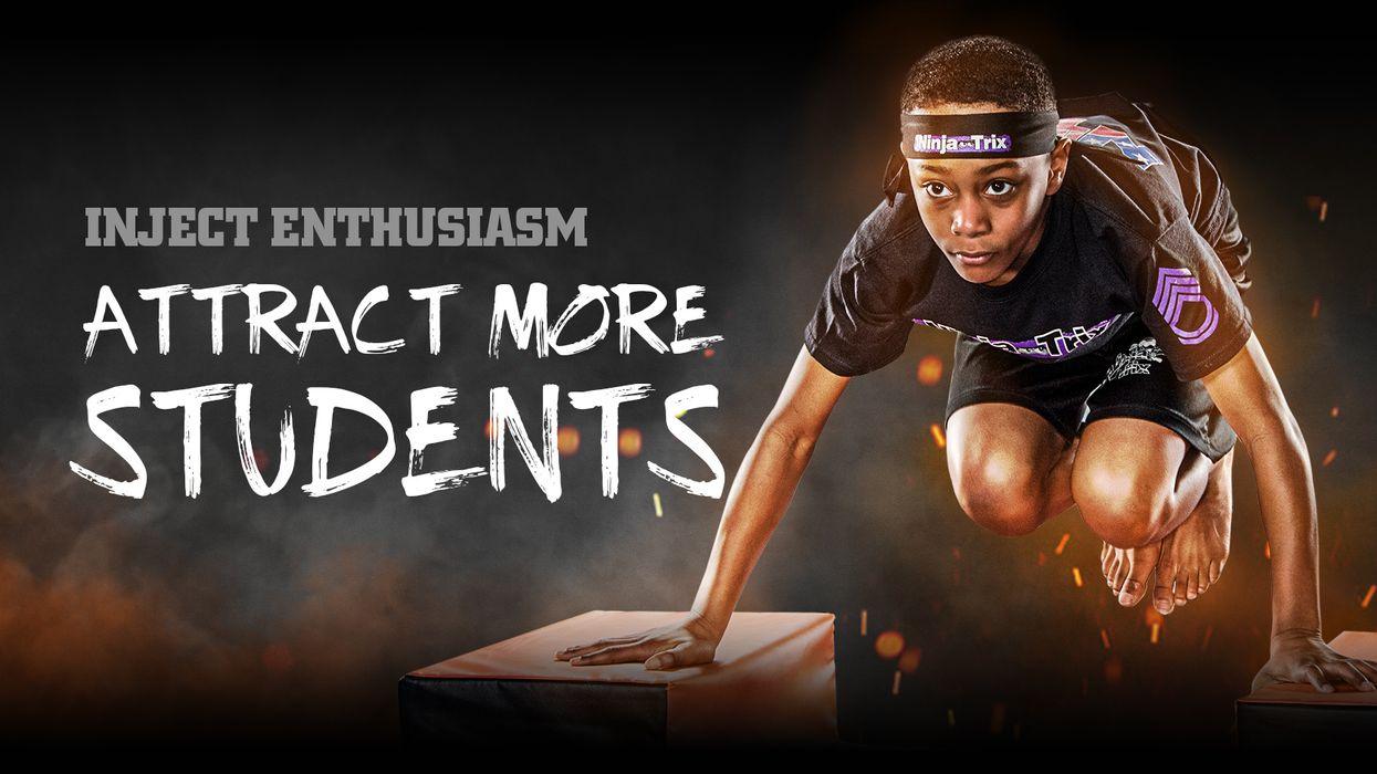 Ninja Trix obstacle course for martial arts schools