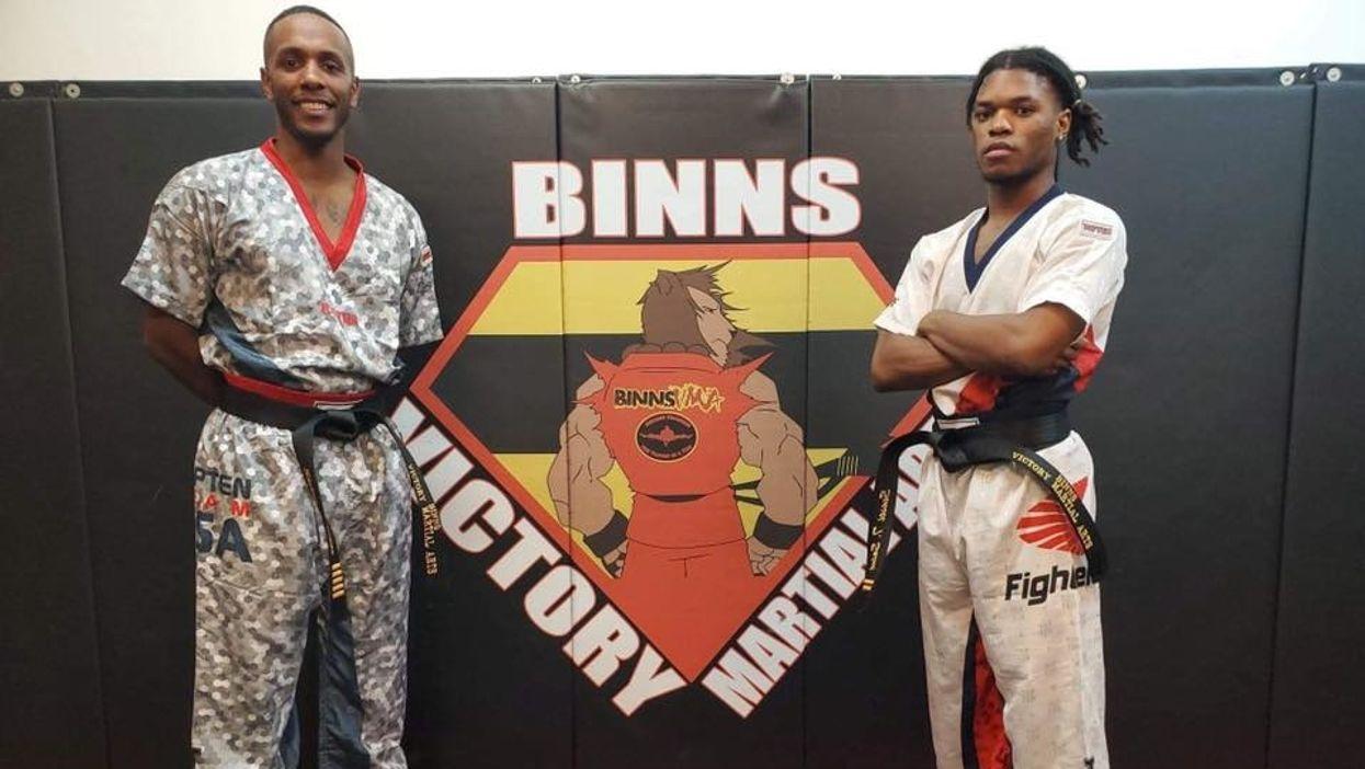 Troy Binns and Tyreeke Saint