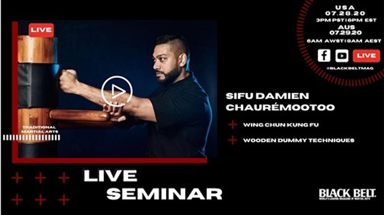 Live Wooden Dummy Seminar with Damien Chauremootoo