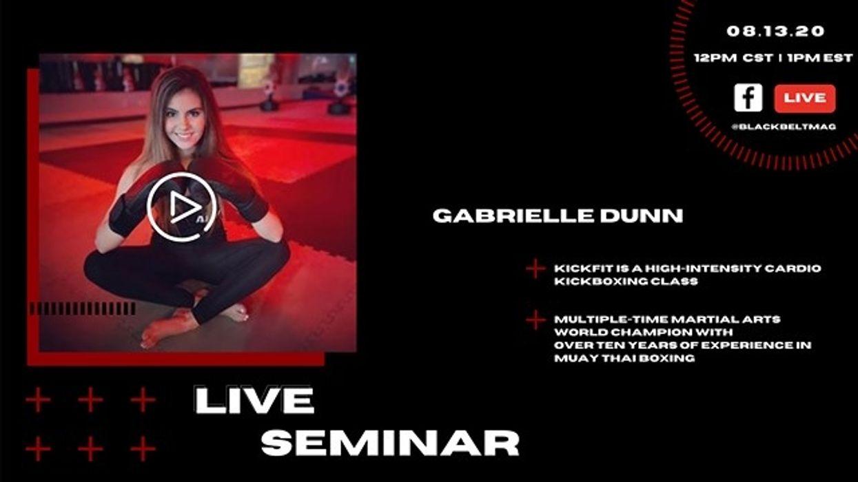Live Cardio Kickboxing Seminar with Gabrielle Dunn
