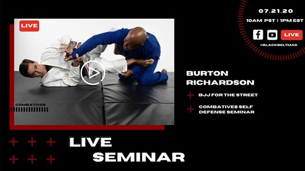 Live BJJ for the Street Seminar with Burton Richardson