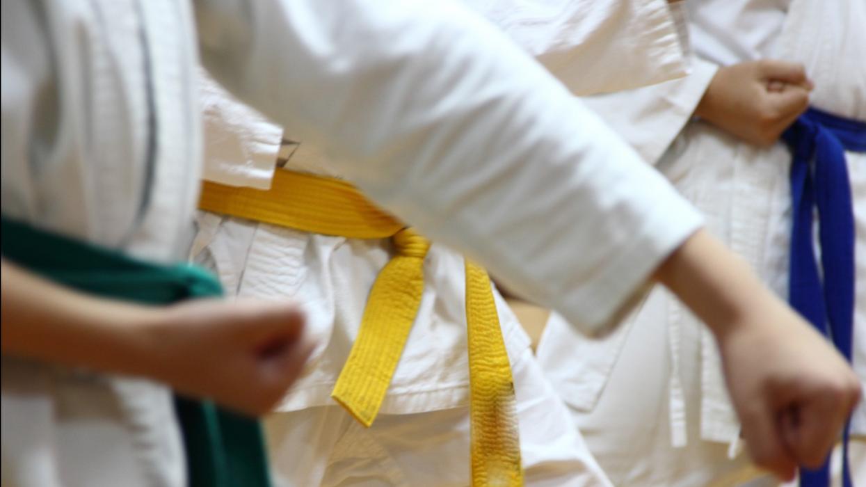 Color belts in karate
