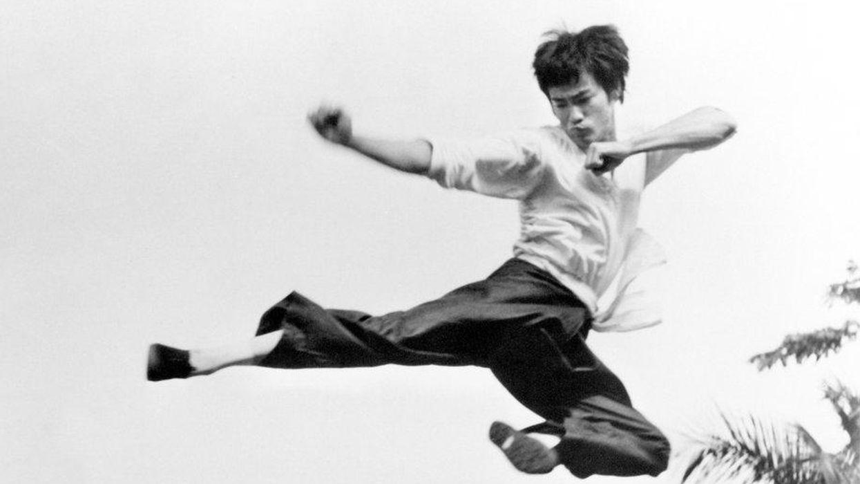Bruce Lee Jump Kick