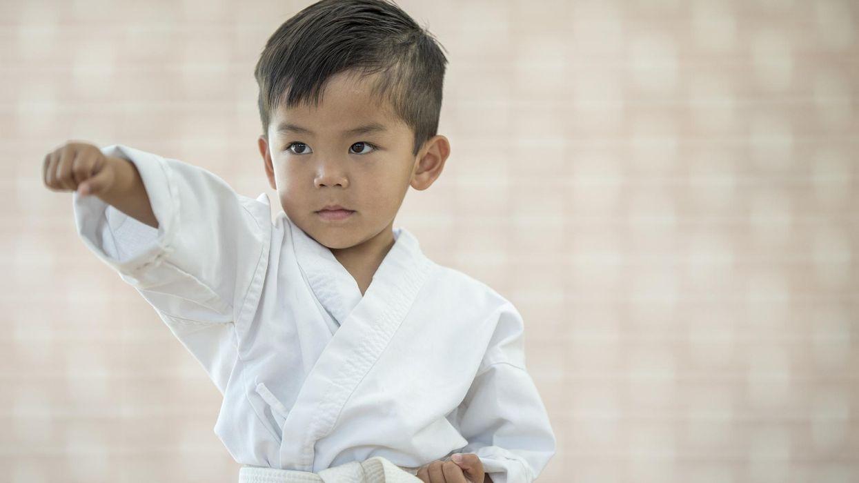 Child martial artist