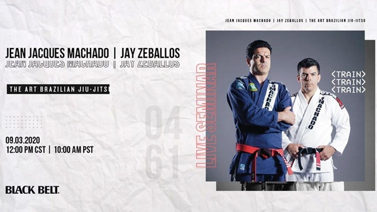 Live BJJ Seminar with Jean Jacques Machado and Jay Zeballos