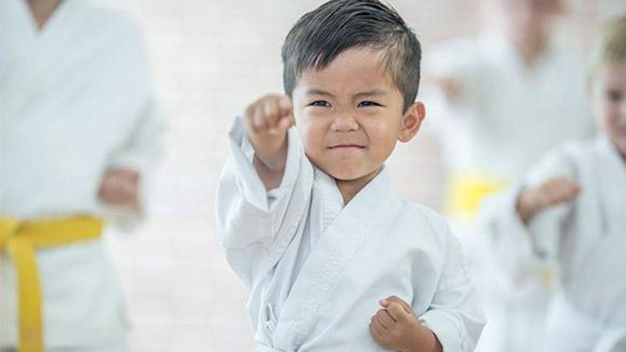 Kid in martial arts