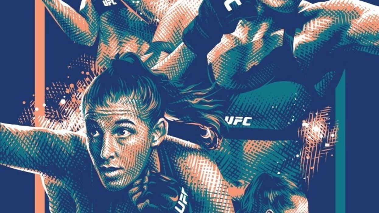 Fan art for UFC 250 by Tracie Ching